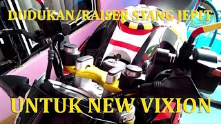 Download Video VIXION NAKED AURA SPORTY, REVIEW DUDUKAN/RAISER BUAT STANG JEPIT DI YAMAHA NEW VIXION ADVANCE MP3 3GP MP4