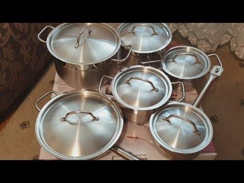 Набор посуды BergHOFF Hotel Line 1112138,  12 предметов, обзор.