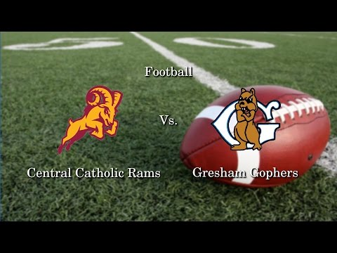 Central Catholic vs. Gresham Football 10.28.16