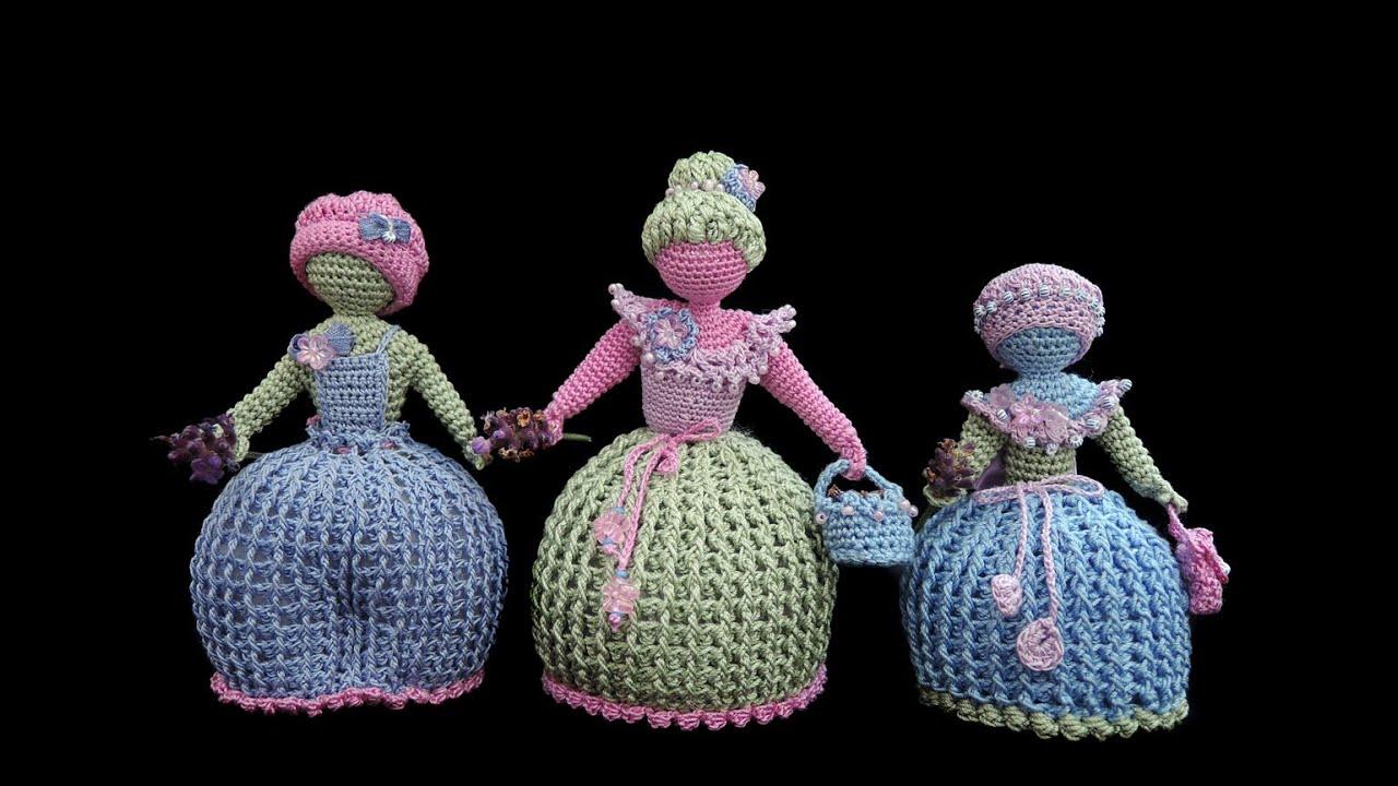 Lavendelpüppchen Lavender Dolls Häkeln Crochet Youtube