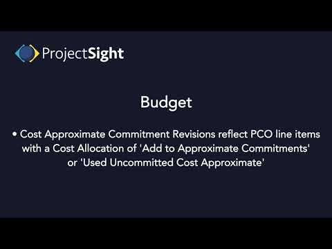 ProjectSight Training - Budget