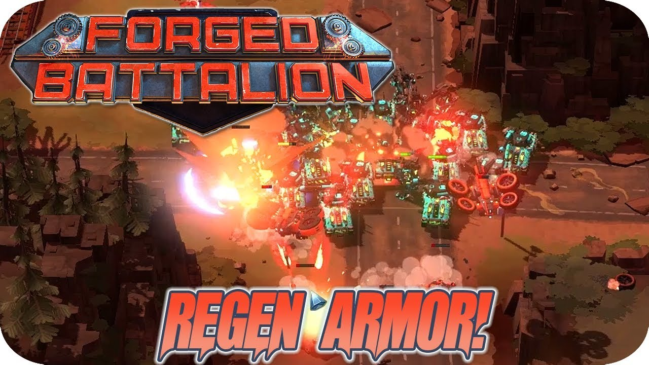 Download Forged Battalion #3 Awesome Regnerative Armor! Artillery, Explosive Tanks And More
