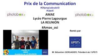 OSI 2021 - Remise des prix - Prix de la communication