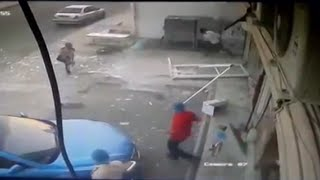 LiveLeak - SUV Smashes into Hair Salon in Saudi Arabia