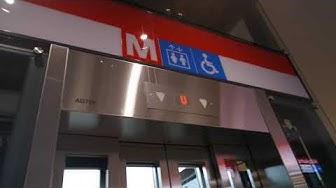 Brand new! Kone traction elevators/lifts in Niittykumpu metro station, Espoo