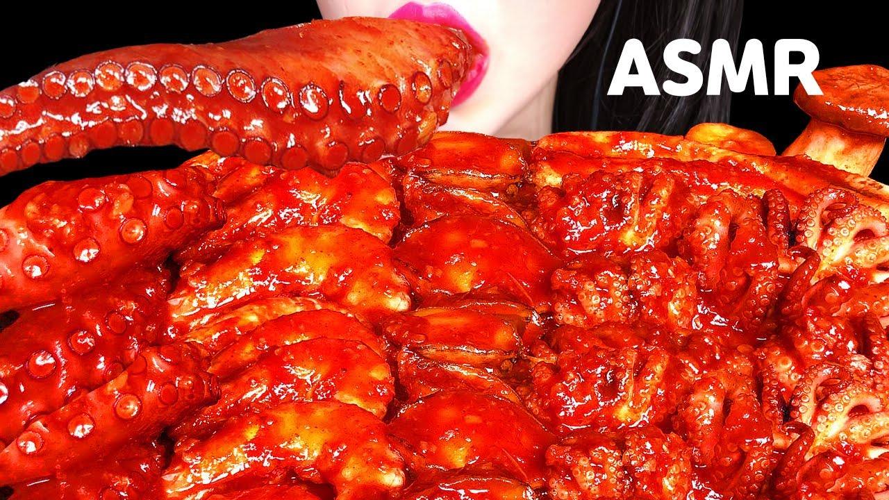 ASMR SPICY SEAFOOD 해물찜 먹방 SPICY ENOKI MUSHROOM 중국당면, 새우, 전복, 문어 버섯 먹방 EATING SHOW MUKBANG