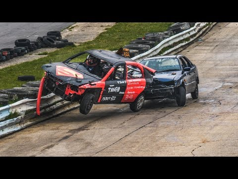 Banger Racing Angmering Oval Raceway - CB Contact - 7th April 2019