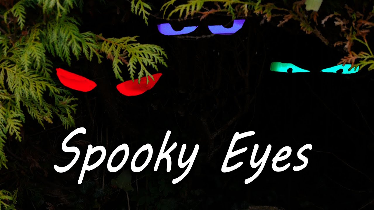 How To Make Spooky Halloween Eyes Youtube