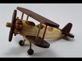 wooden toy vintage biplane(ahşap oyuncak uçak)