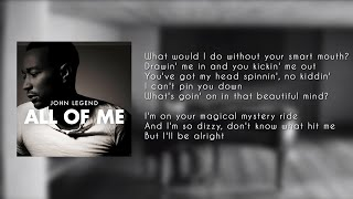 John Legend - All of Me ( LYRICS - KARAOKE - INSTRUMENTAL )