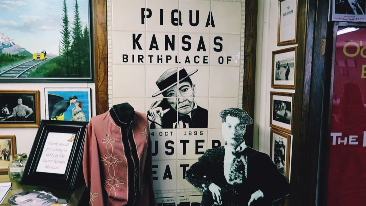 1093 Birthplace of BUSTER KEATON Piqua Kansas - Jordan The Lion Daily  Travel Vlog (8/4/19) - YouTube