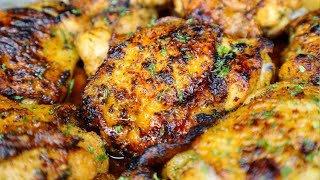 Juicy Oven Baked Chi¢ken Thighs| Seriously It's Bomb