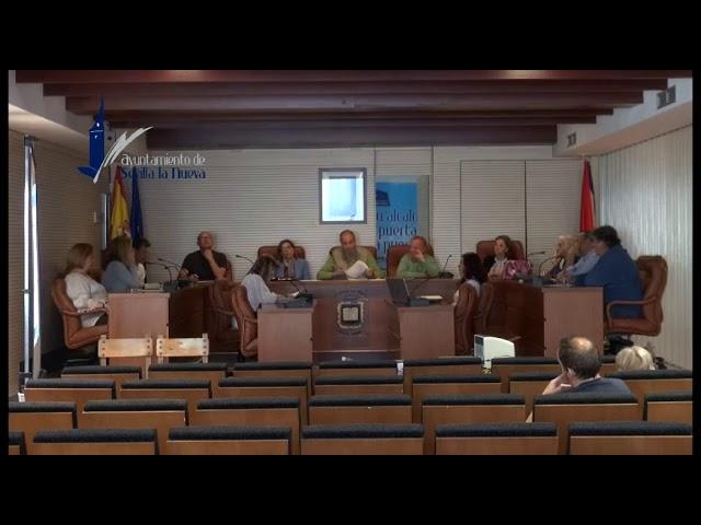 Pleno Extraordinario del 29 de abril de 2019 en Sevilla la Nueva