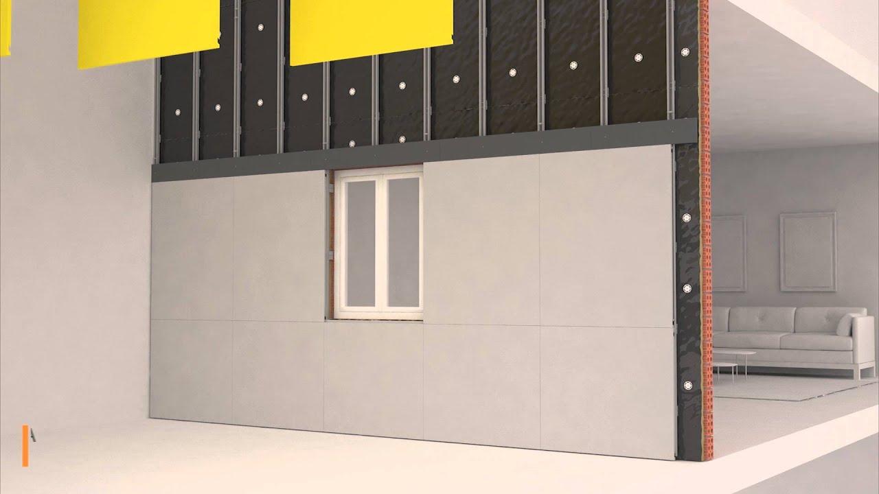Instalaci n de fachada ventilada con paneles composite de for Fachada aluminio