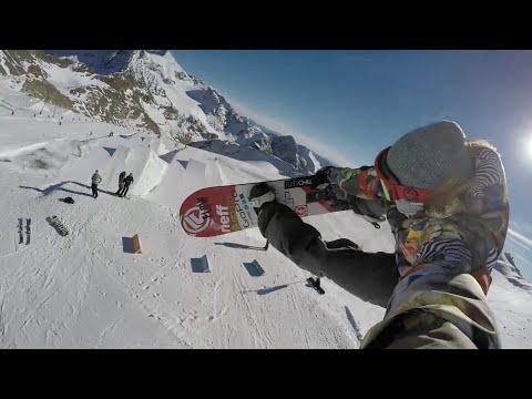 GoPro: Stubai Austria Super Kicker Selfie Snowboarding