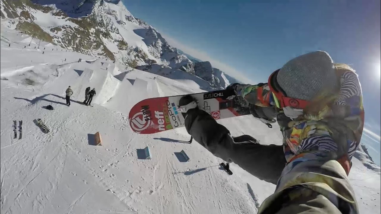 Stubai Austria Super Kicker Selfie Snowboarding