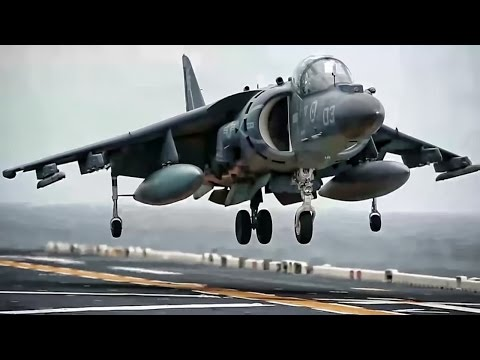 Marine Corps Harriers • Shipboard Takeoffs & Landings