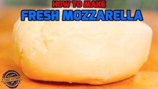 How to make Fresh Mozzarella Cheese recipe - Home Made DIY