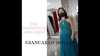 Estrella disfrutando en Giancarlo Novias de los preparativos de la boda de sus sobrinos