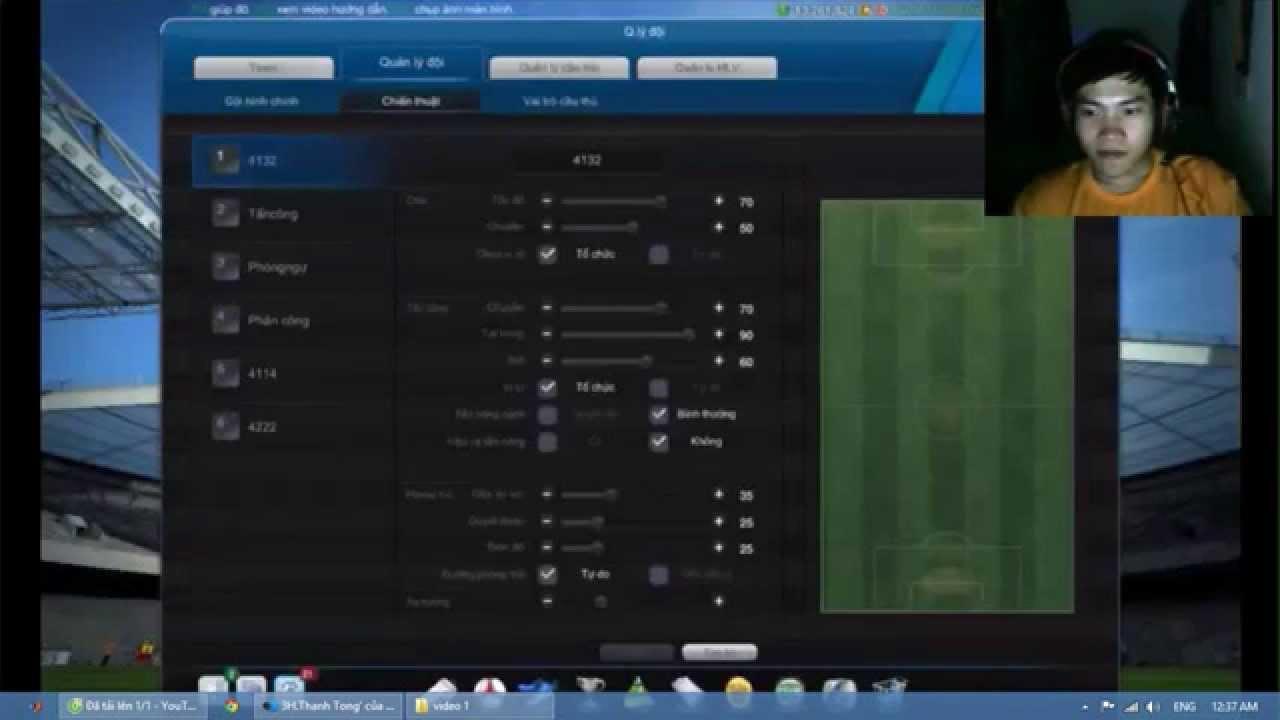 chiến thuật đá xếp hạng 1 đấu 1 của Thanh Tòng fifa online 3