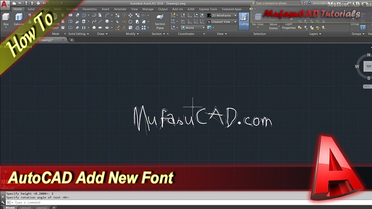 AutoCAD How To Add New Fonts