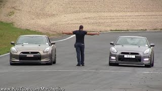 1200hp Nissan GT-R vs 800hp GT-R vs 730hp Audi RS6 Drag Race