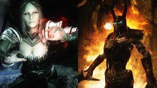 Skyrim - Draugr Deathlord VS. Volkihar Vampire