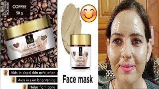 ||New Good Vibes Coffee Brighting Face Mask ReView & Demo||