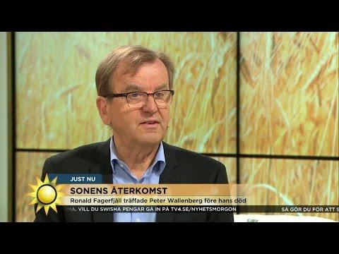 """""""Det var väldigt spännande"""" - författaren till boken om Peter Wallenberg - Nyhetsmorgon (TV4)"""