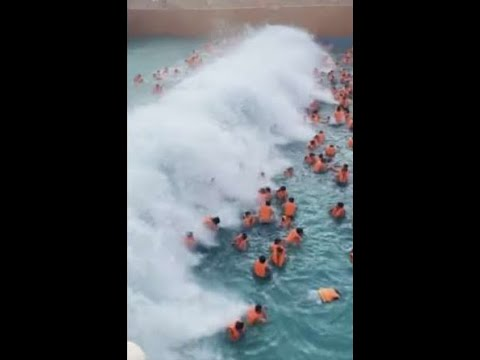 Brother Wease -  Terrifying Video Shows Tsunami-Sized Wave at Water Park