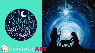 How to paint  a Nativity Silhouette--with Acrylics