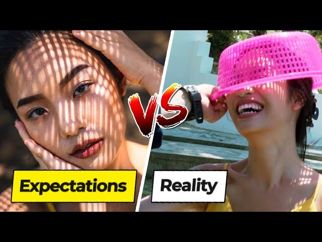 Expectations vs Reality Of Instagram Photos On A Restricted Island