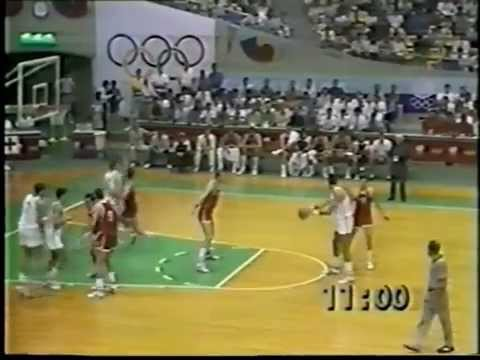 OLYMPIC GAMES SEOUL 1988: U.S.S.R - YUGOSLAVIA 79-92 (DAY 1)
