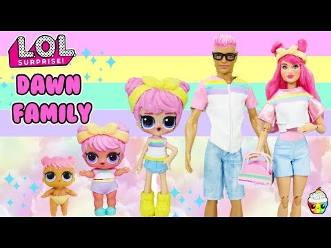 Dawn Family DIY Custom Fun Craft With Barbie and Ken Cupcake Kids Club