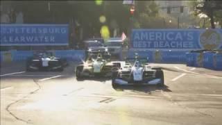 Indy Lights 2017. Race 1 St.Petersburg 100. Last Laps