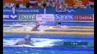 Плавание - Чемпионат Европы 2008 - Россия побеждает в комбинированной эстафете