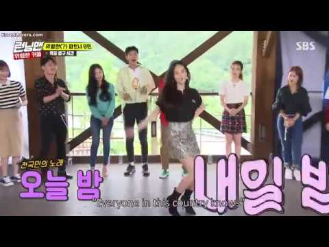 Everyone in Running Man singing After School-Diva!
