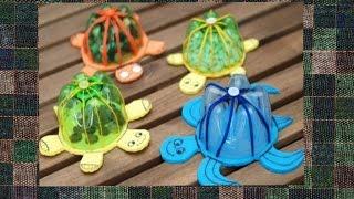 Черепаха из пластиковой бутылки.