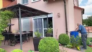 видео: Добро пожаловать на мою кухню в саду, стройка продолжается