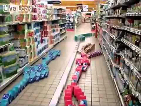One way to pass the night shift Supermarket domino]  YouTube