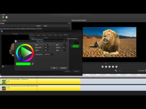 Use Chroma key (Green Screen Removal) in OpenShot Video Editor on Linux Mint 17.2
