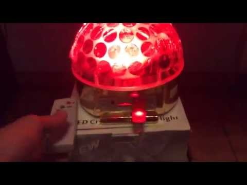 Led Magic Ball Gold магический шар цветомузыка Mp3