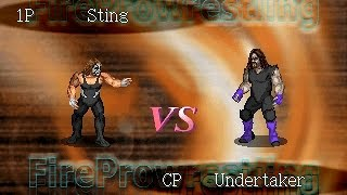 PSX Fire Pro Wrestling G - Sting vs The Undertaker