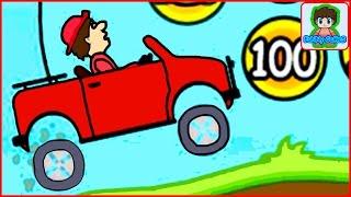 hill climb racing игра про красную машинку для детей от фаника  2