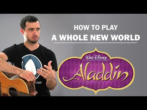 A Whole New World (Disney's Aladdin) | How To Play | Beginner Guitar Lesson