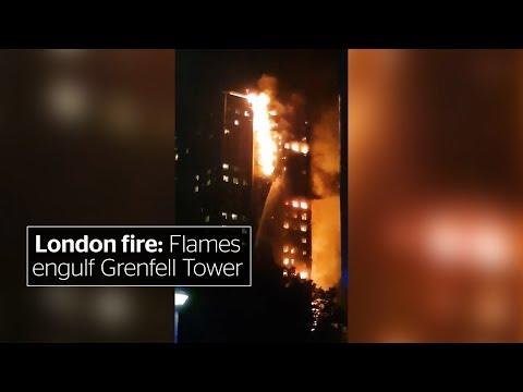London fire: Flames engulf Grenfell Tower in Kensington
