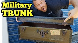 FOUND MILITARY TRUNK / I Bought An Abandoned Storage Unit / Storage Wars