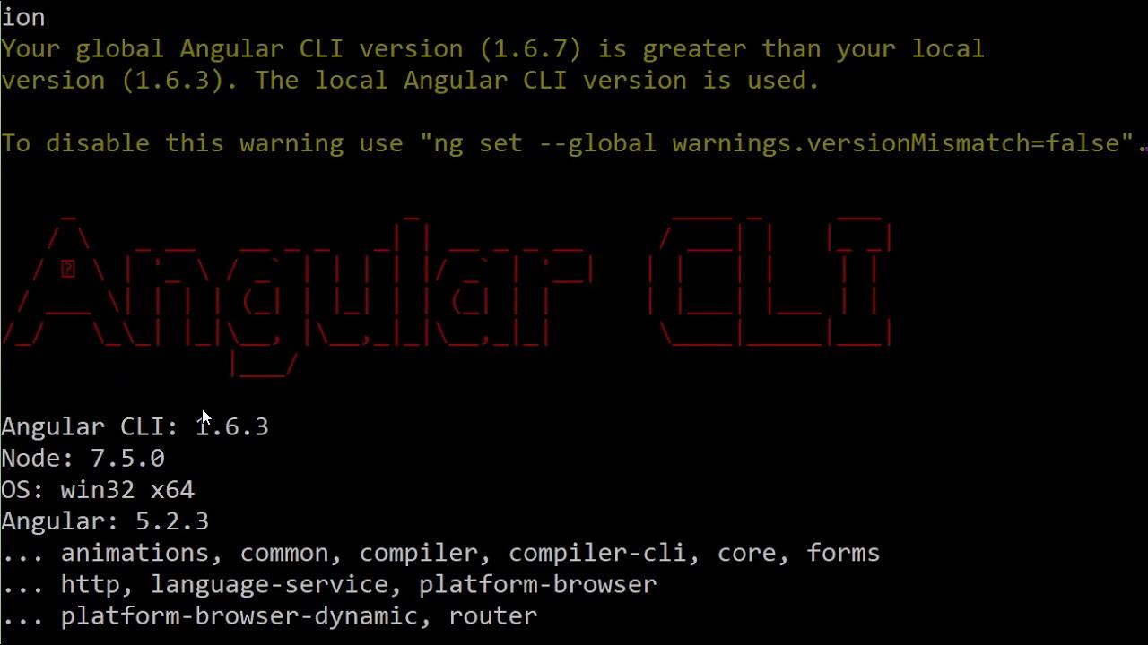 install angular cli for node 6