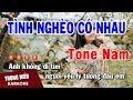 Karaoke Tình Nghèo Có Nhau Tone Nam Nhạc Sống | Trọng Hiếu
