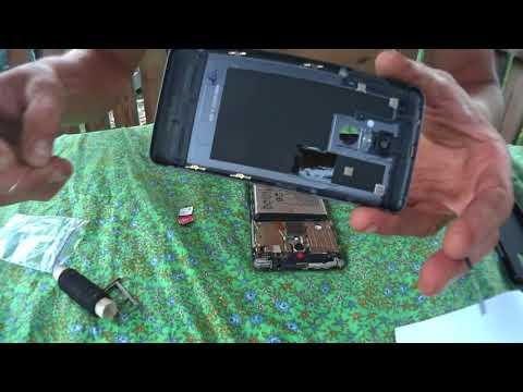 разборка снятие и  замена задней крышки батареи в Lenovo K6
